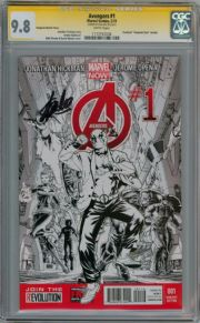 Avengers #1 Deadpool Gangnam Sketch Variant CGC 9.8 Signature Series Signed Stan Lee Marvel comic
